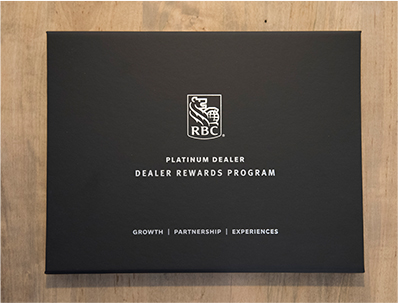 RBC Dealer Reward Program Coffee Table Book for Auto Dealer Principals